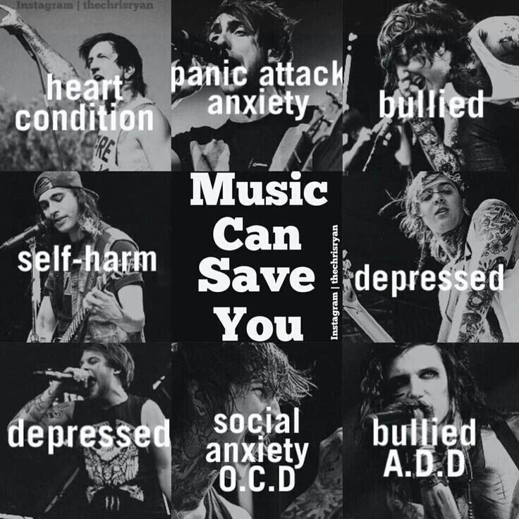 Music can save you from anything.