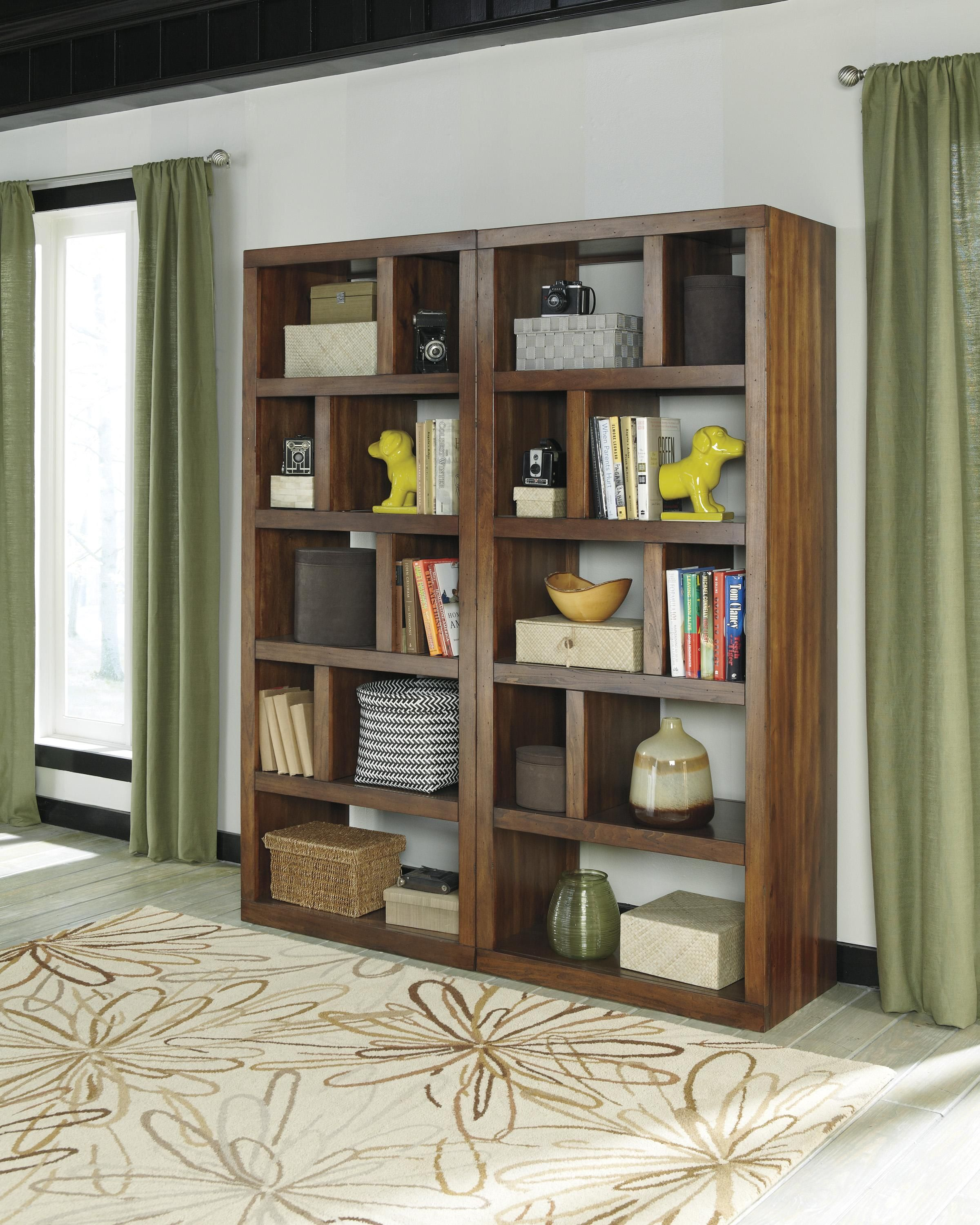 small ashley cross home office island bookcase from bookcases at