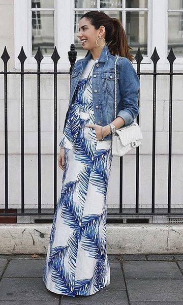 Look: Camila Coutinho - Maxi Dress + Jeans