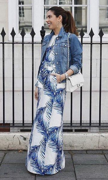 Look: Camila Coutinho - Maxi Dress + Jeans