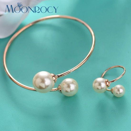 MOONROCY Free Shipping Female One Piece Imitation Pearl Fashion