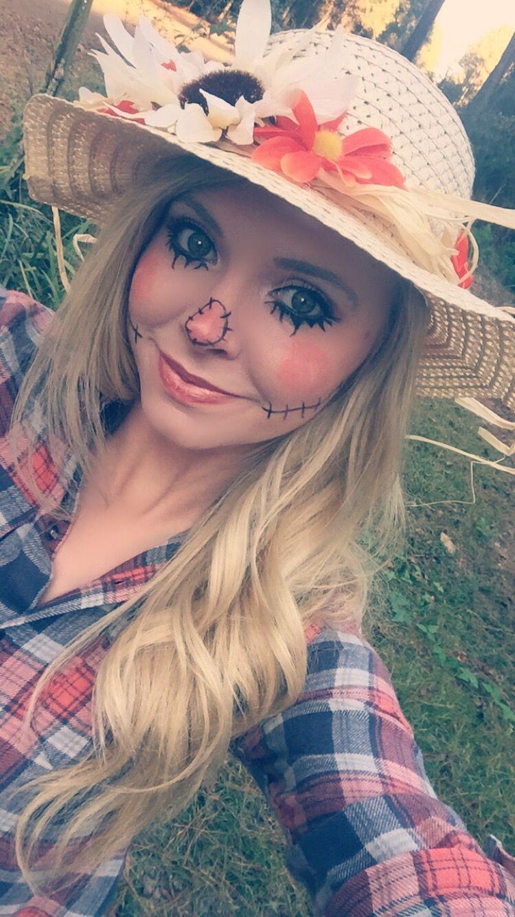 Scarecrow make up Halloween costumes scarecrow, Diy