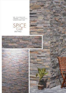 Fesselnd Split Face Stone Fireplace | Spice Craft   Split Face M Stone | 6x24 (Slate  · InnenkamineFeuerstellen Aus Stein SteinplattenGewürzeKüchenumbauSchieferDetroit