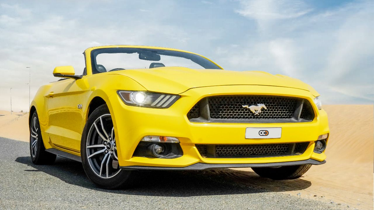 Drive The Ford Mustang Gt Convertible In Dubai For Only Aed