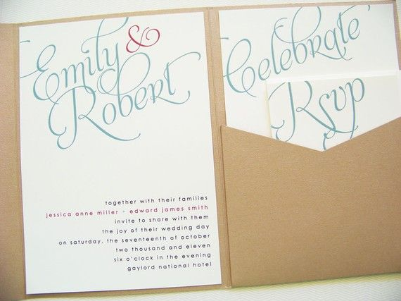 Pocketfold Wedding Invitations Your Names By LittleSparkCreations 14875 Rachellewhat About A