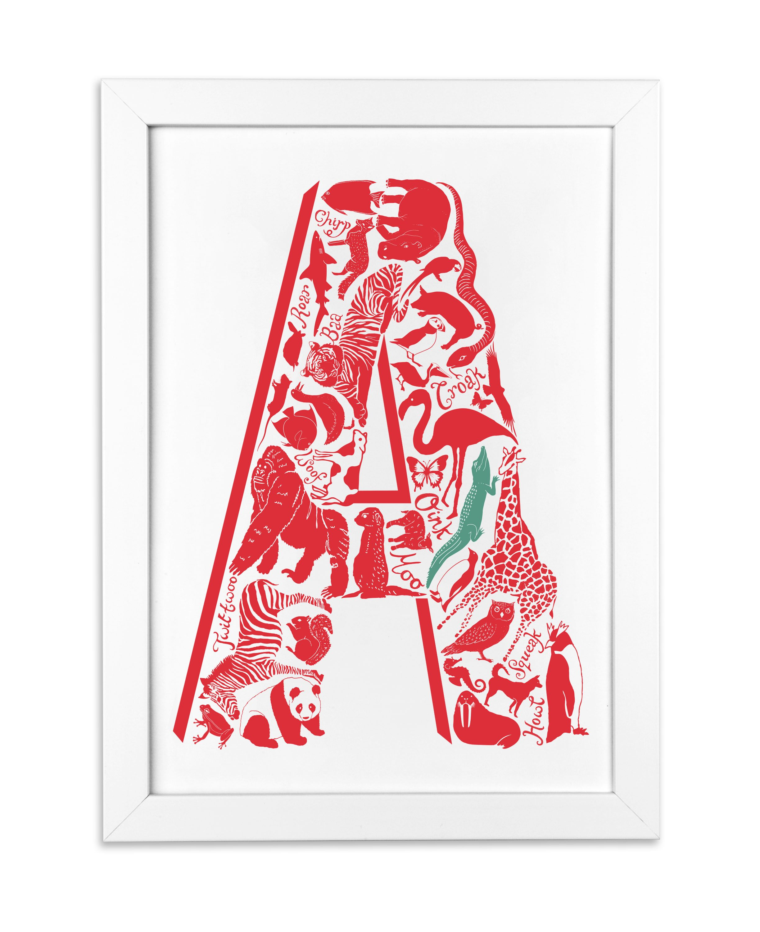 Letter A for a kids room http://www.lucylovesthis.com/ourshop/prod_2690877-Animal-Alphabet-Letter.html