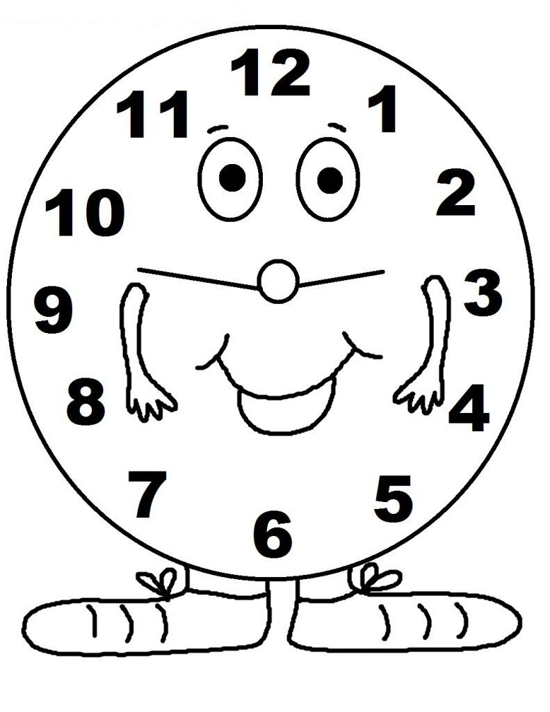 Free Printable Clock Coloring Pages For Kids Coloring Pages