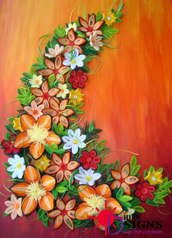 Paper Quilling Wall Hangings Manualidades Arte De Papel