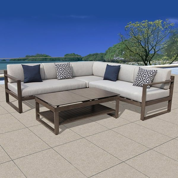Genial OVE Decors Outdoor Patio L Shaped Sectional Sofa Set