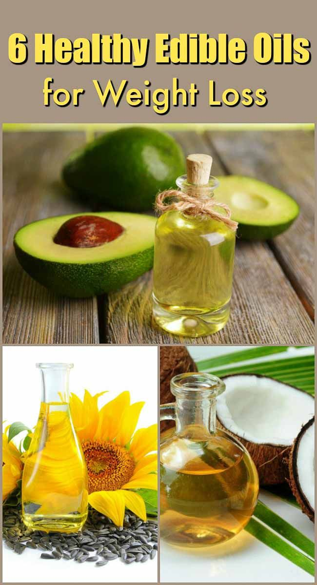 Healthy Edible Oils for Weight Loss - 6 healthy oils that aid in weight loss.