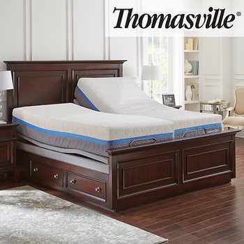 Thomasville Momentum Gel Choice 12 5 Split King Mattress And Adjustable Base Adjustable Beds Adjustable Mattress Cal King Mattress