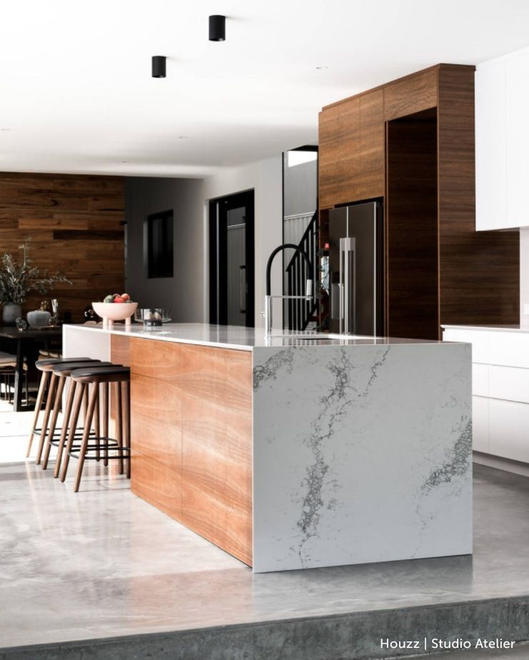 Raw Concrete Steps Lead Up To This Dreamy Kitchen 🔨🏡 Get