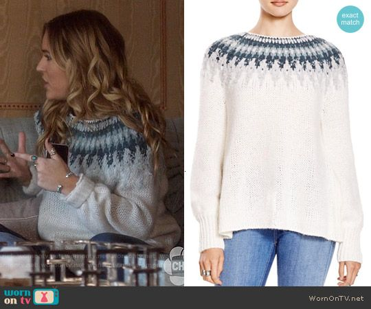 Maddie's fair isle sweater on Nashville. Outfit Details: https ...