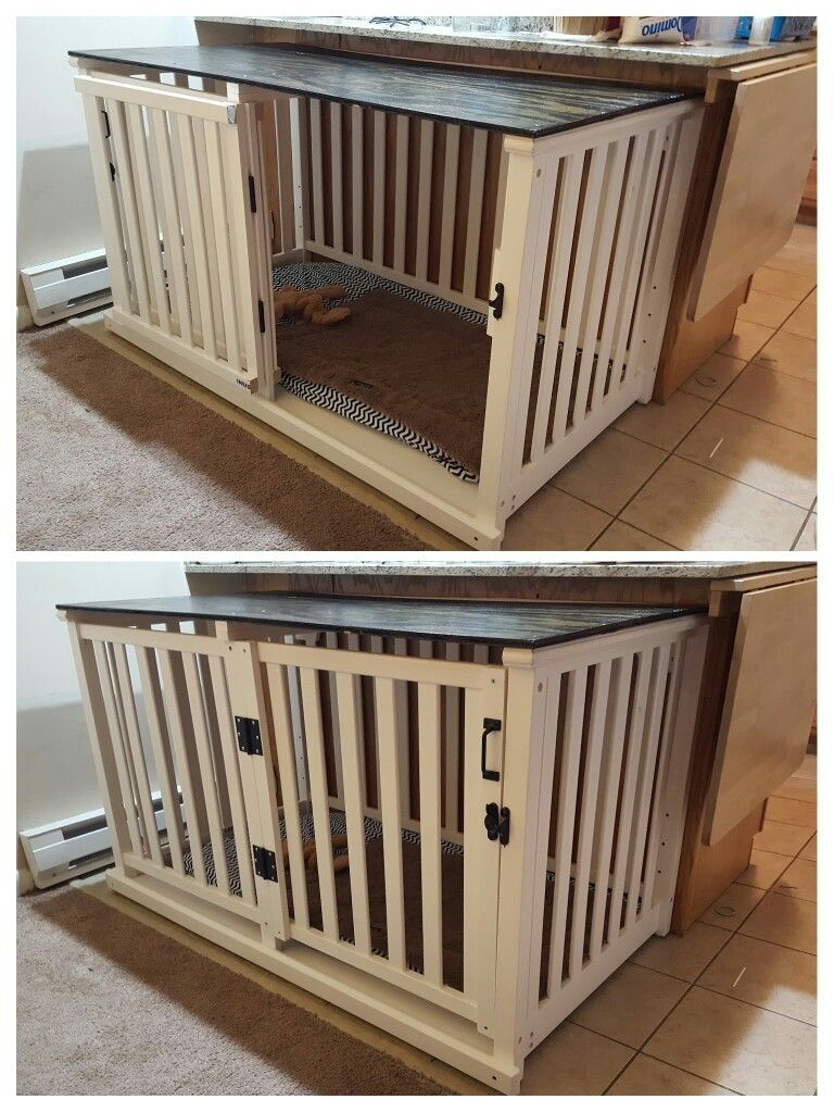 Old Crib Converted To Spacious Dog Crate Diy Project