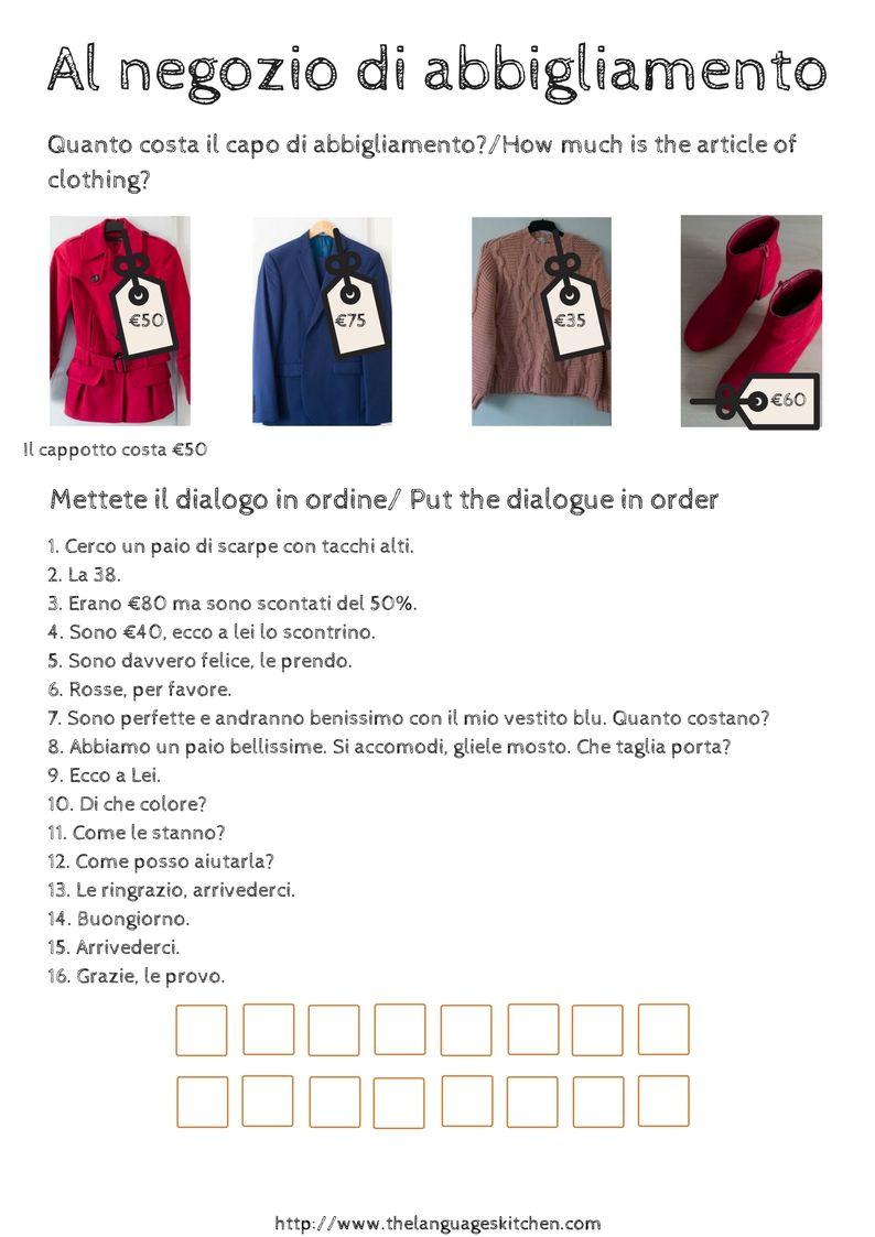 quality design 096db 438a6 Al negozio di abbigliamento - A dialogue in a clothes shop ...