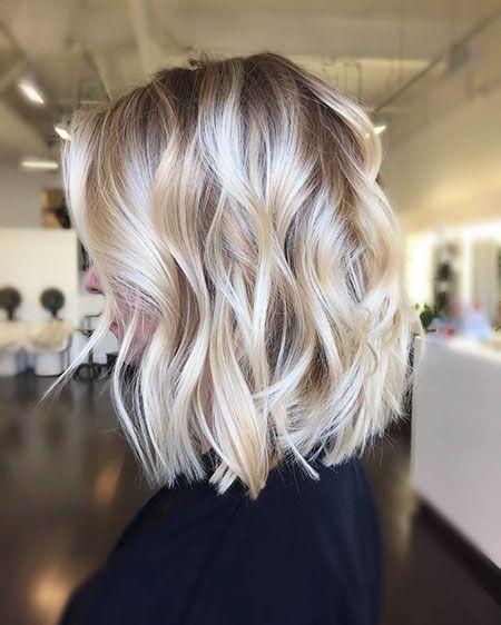 18 Kurze Gewellte Blonde Frisuren 2017 2018 Blonde