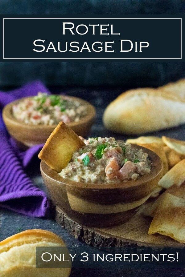 Rotel Sausage Dip #porksausages