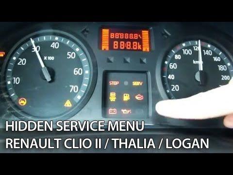 How to enter secret menu in #Renault #Clio II, Thalia, #Dacia Logan