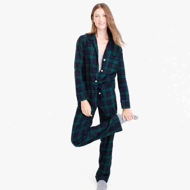 3f0cd82f0ab j crew Black Watch flannel pajama set