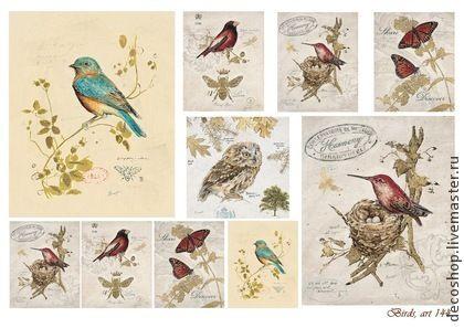 """""""birds"""", арт. 144 рисовая бумага для декупажа Decoshop - рисовая бумага"""