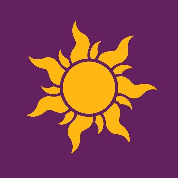 Tangled Rapunzel Sun Logo Corona Symbol Art Print By Teo Hoble Society6 Rapunzel Sun Tangled Rapunzel Art