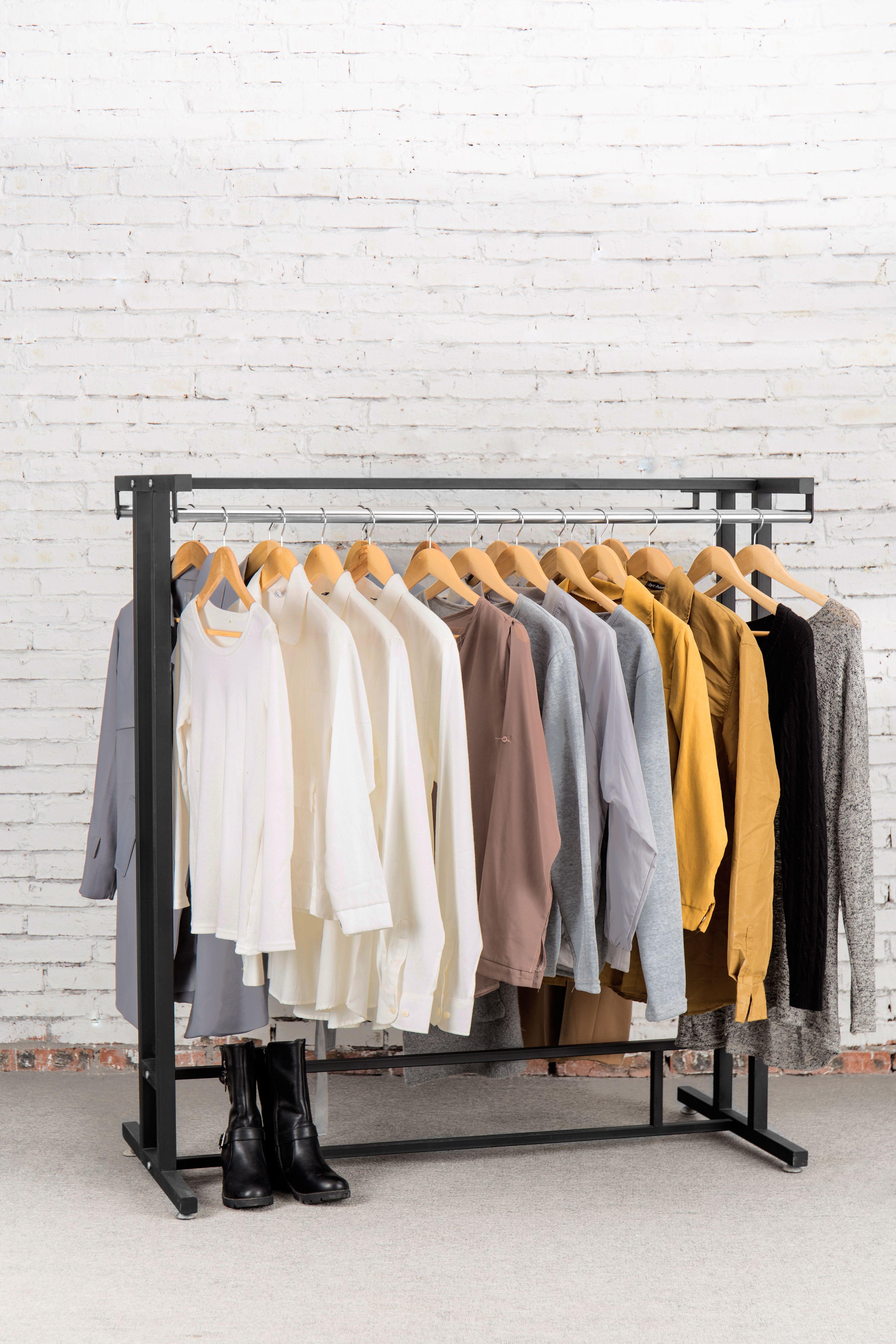 Industrial strength wardrobe garment rack. Retail style clothing