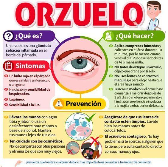 como curar un escupelo en el ojo