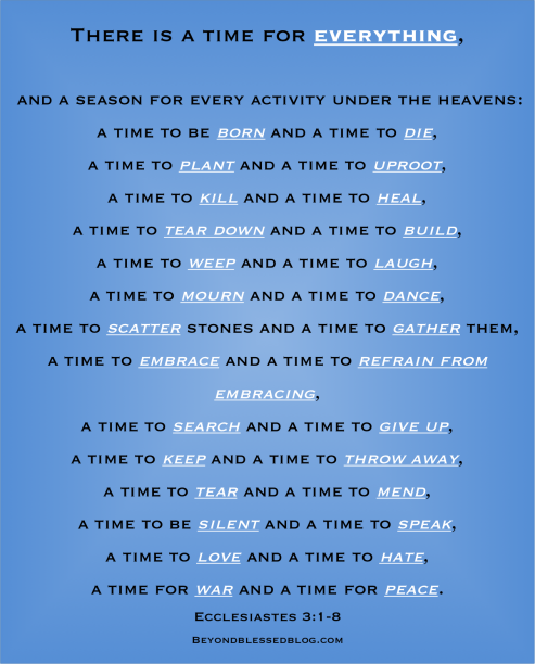 There Is A Time For Everything Ecclesiastes 3 Inspirational Quotes