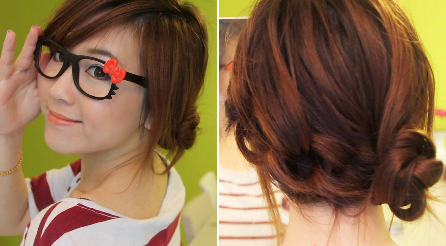 3 Min Cute Knotted Hairstyle -- im loving this girl's channel | Hair styles, Hair inspiration ...