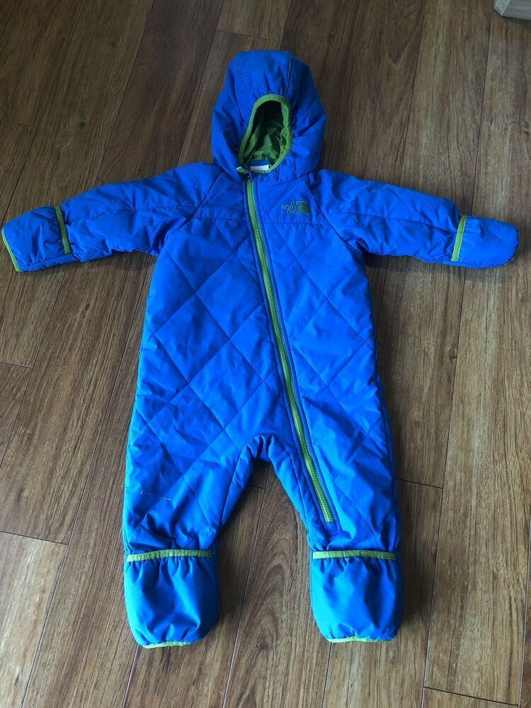b63e53c6bc84 North Face Infant 12-18 Month Warm Snowsuit Baby Boy Blue  fashion ...