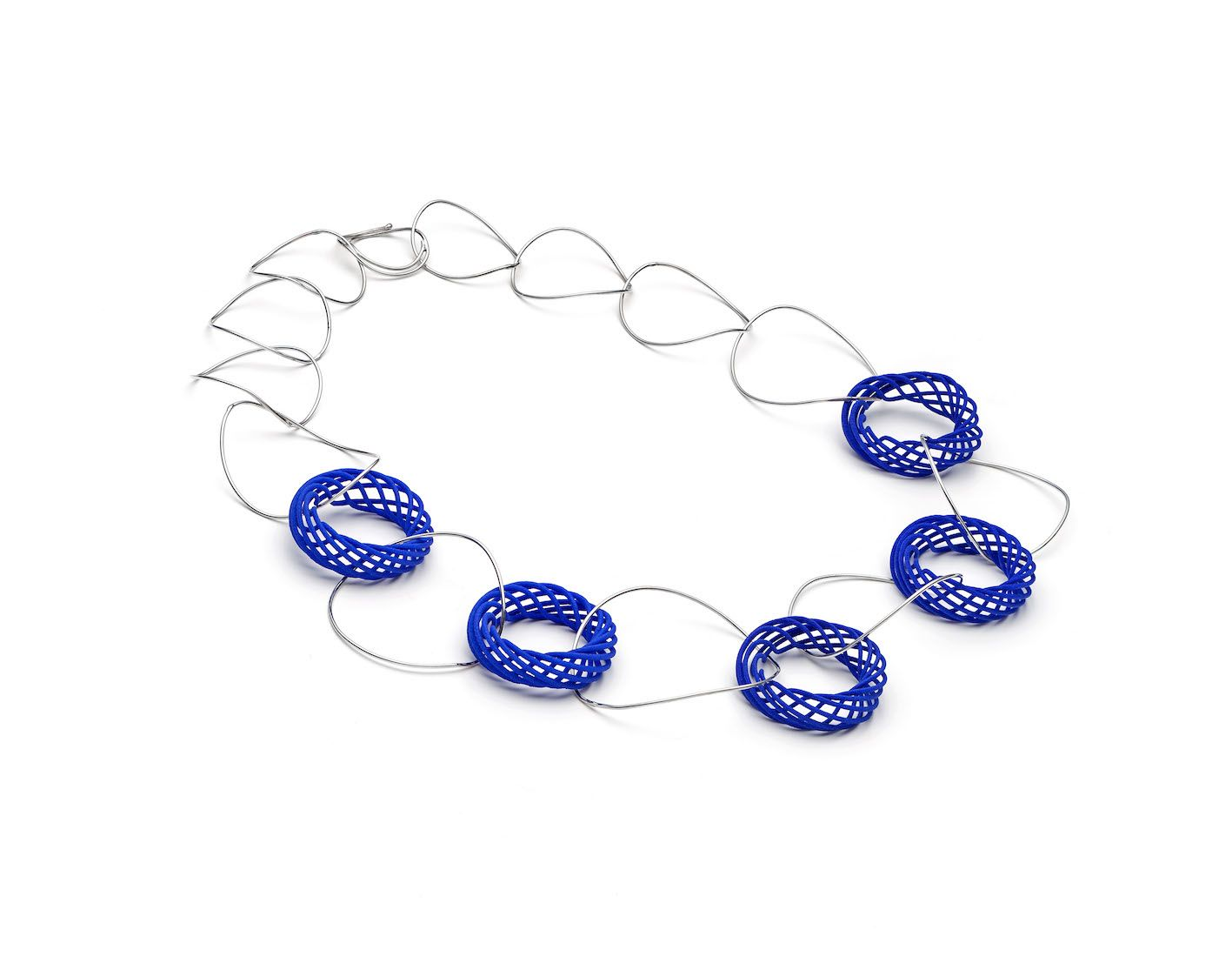 This necklace has vortex pieces and is a cm in length made