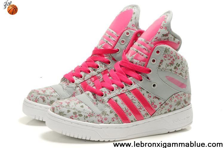 Cheap Girl Adidas X Jeremy Scott Big Tongue Shoes Flower