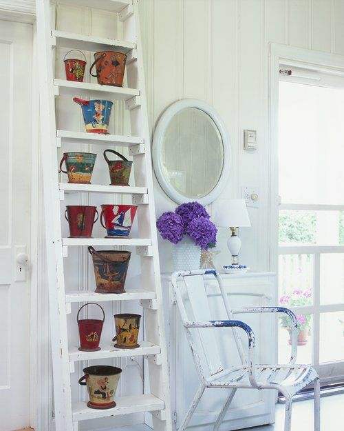 Old Ladders Repurposed As Home Decor