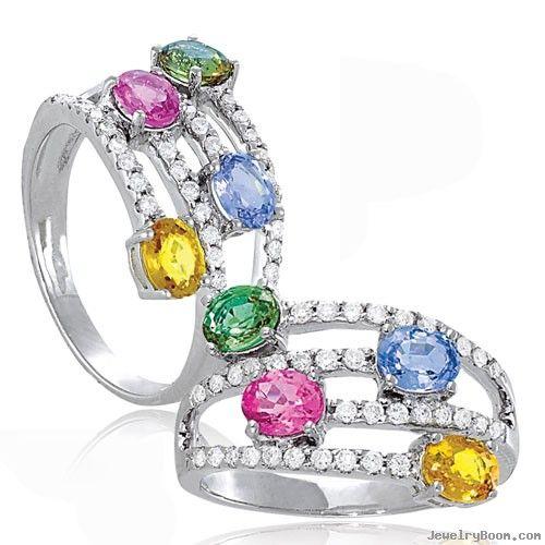 ... Diamond & Multi-Color Sapphire