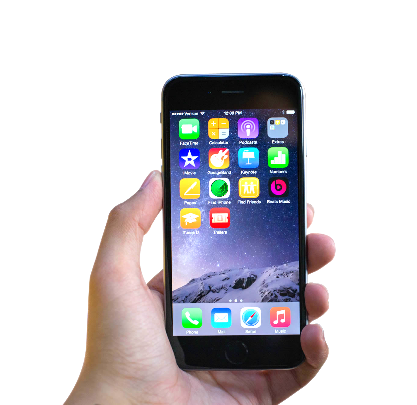 Hand Holding Black Apple Iphone 6 Png Image Iphone Apple Iphone 6 Black Apple