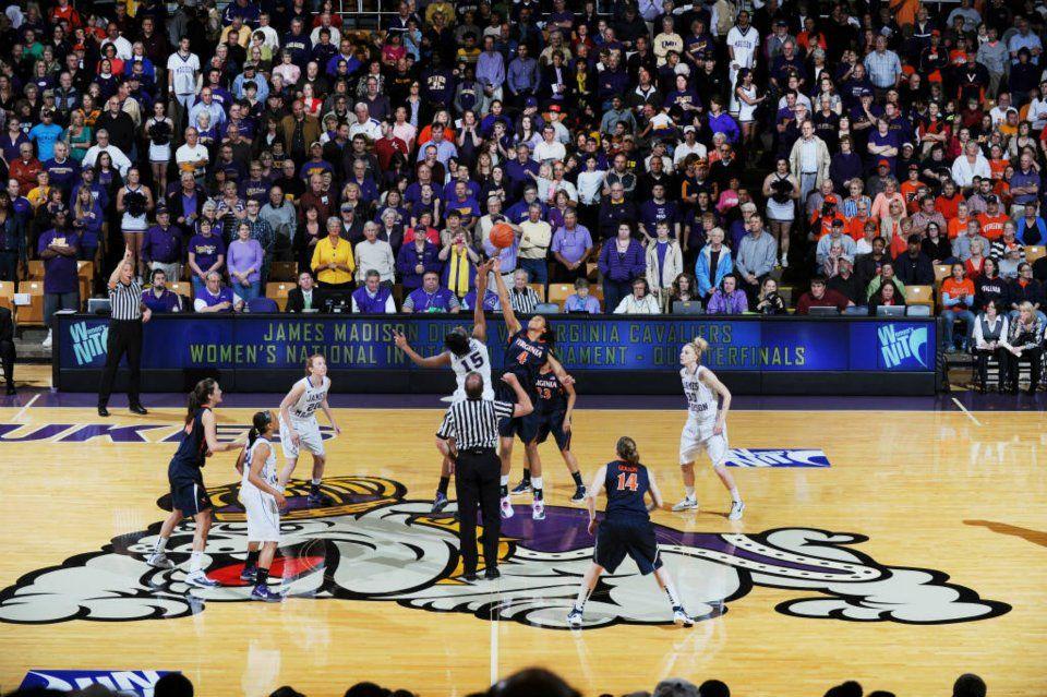 Jmu womens basketball team tips off against uva in the
