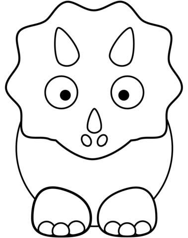 Cartoon Triceratop Coloring Page From Triceratops Category Select From 26388 Printable Crafts Of Cart Dinosaur Coloring Pages Coloring Pages Dinosaur Coloring