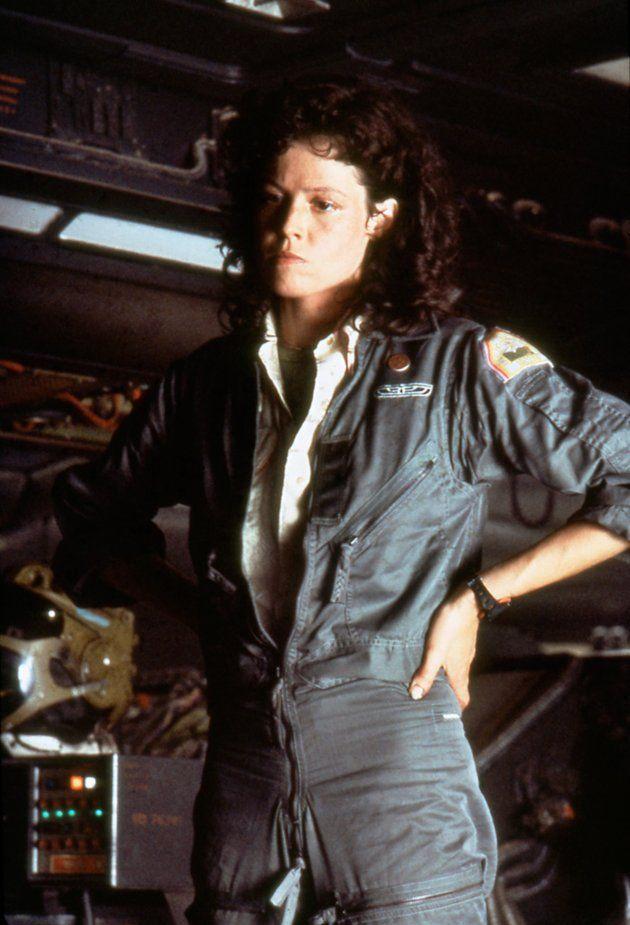 Sigourney Weaver as Ellen Ripley in the 'Alien' trilogy. I say ...