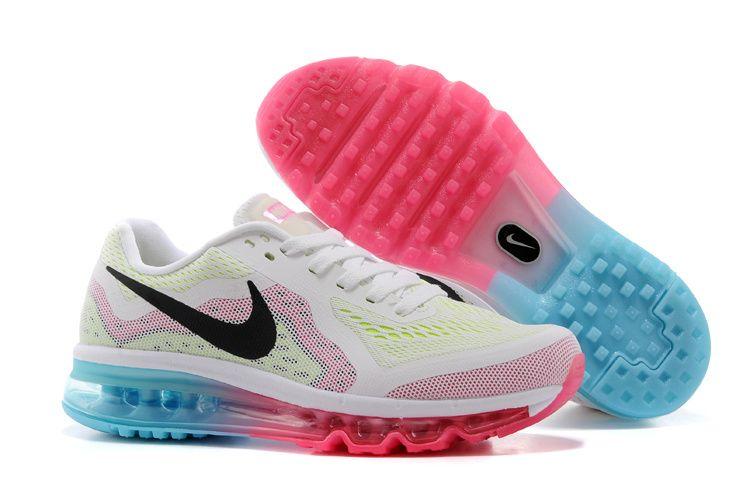 half off Womens Pure Platinum Black Vivid Pink Violet Nike Air Max 2014  Running Shoes 2015