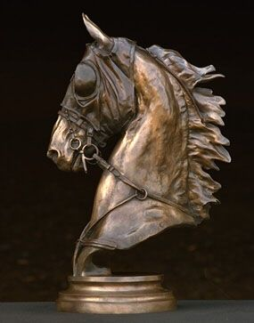 LIFE-LIKE BRONZE COLLECTION HANDCRAFTED CARVED OLD HORSE STATUE DECORATION