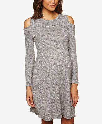 318824ed368f9 Shop Motherhood Maternity Cold-Shoulder Ribbed Dress online at Macys.com.  Look instantly