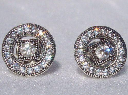 6ec80c5979423 Pandora Vintage Allure Earrings CZ Detachable by JEWELSELAGANT ...
