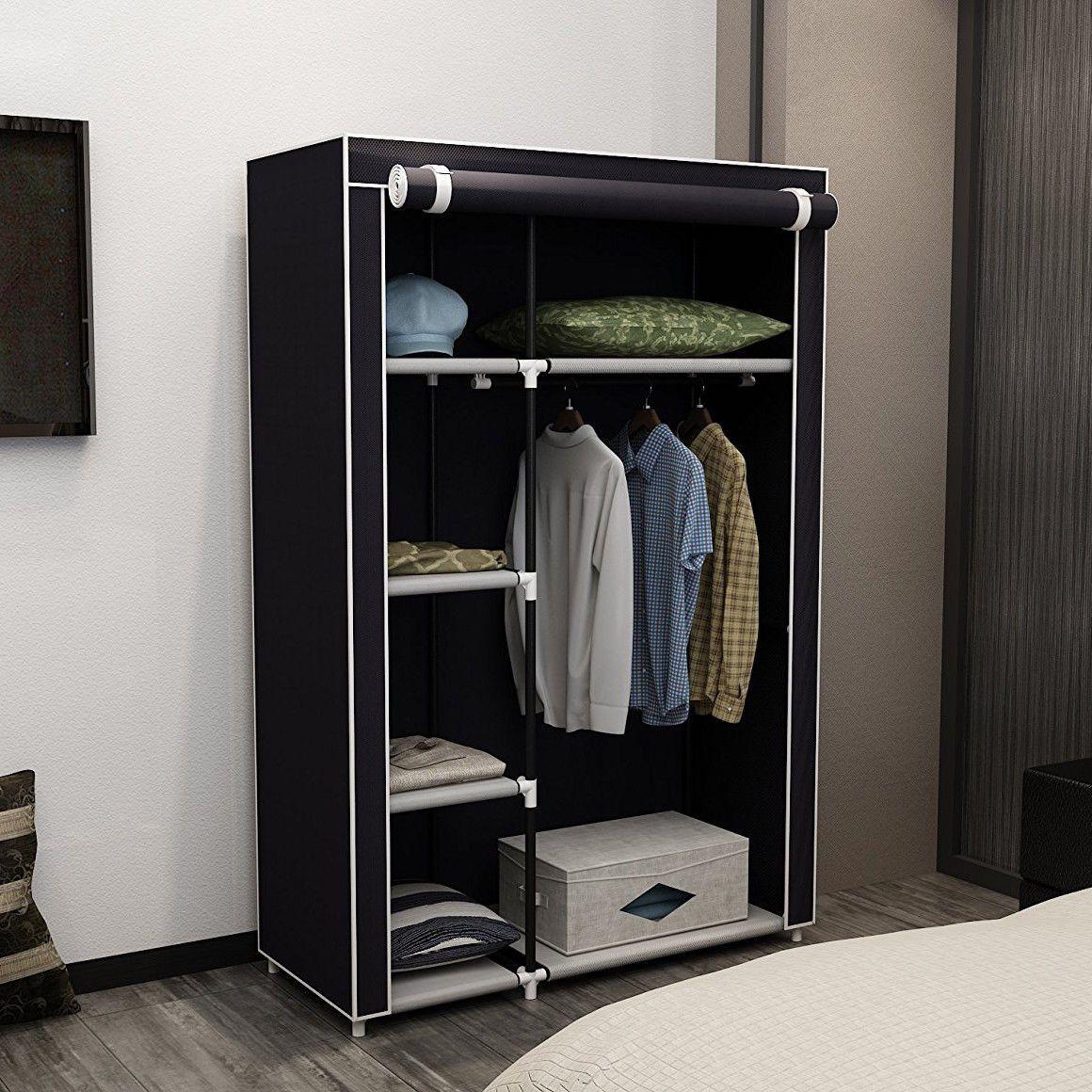New 63 Portable Closet Storage Organizer Wardrobe Clothes Rack
