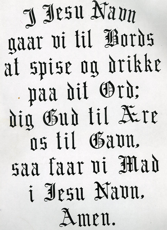 Norwegian Prayer Family Tradition Grandma Dagny Words To Live