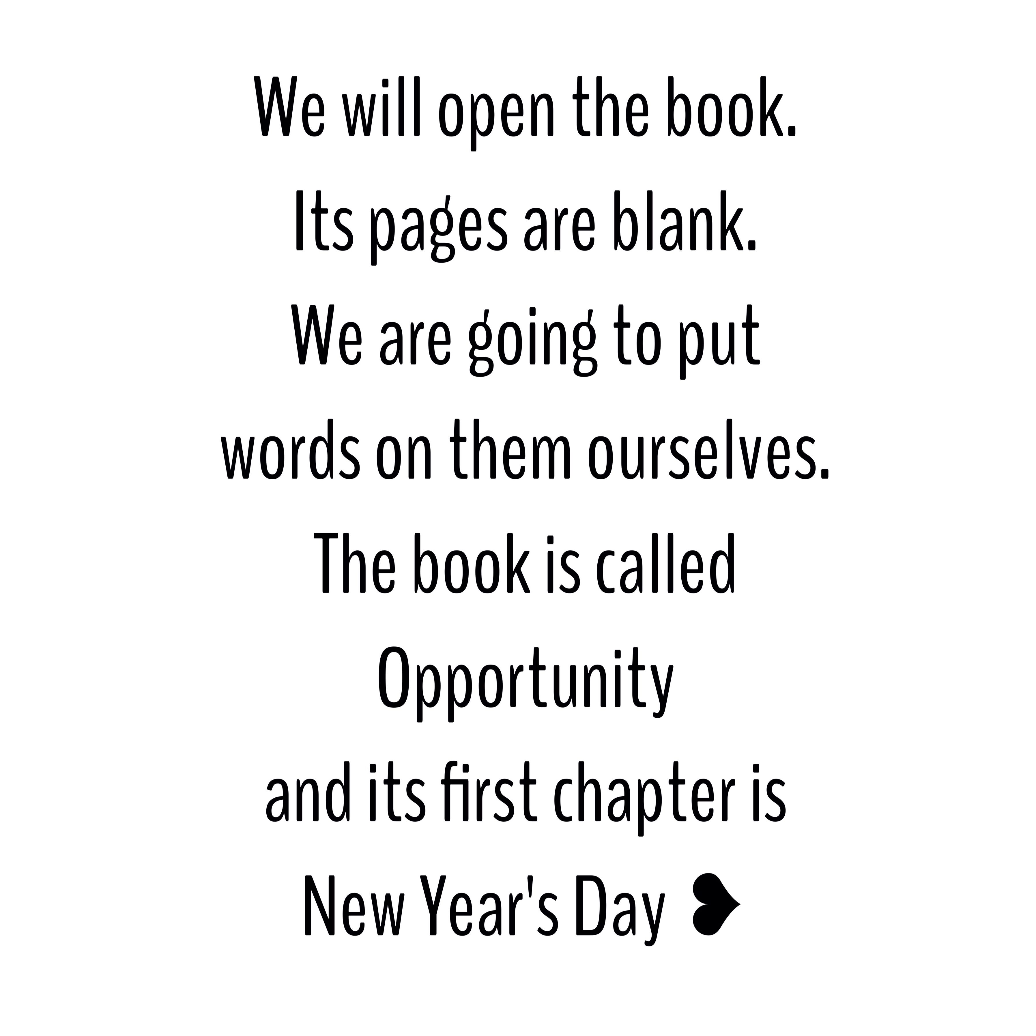 i only like new year\'s because of the way people start to dream of ...