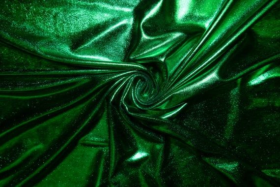 Shiny Turquoise Pleather Faux Leather Stretch Polyester Lycra Spandex Fabric BTY