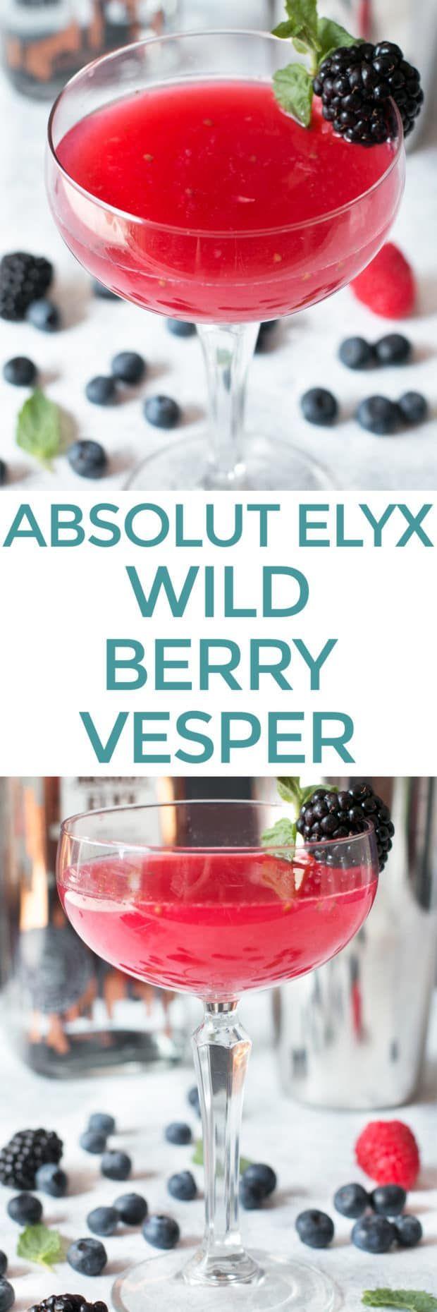 Absolut Elyx Wild Berry Vesper Recipe Absolut Elyx Wild Berry Absolut