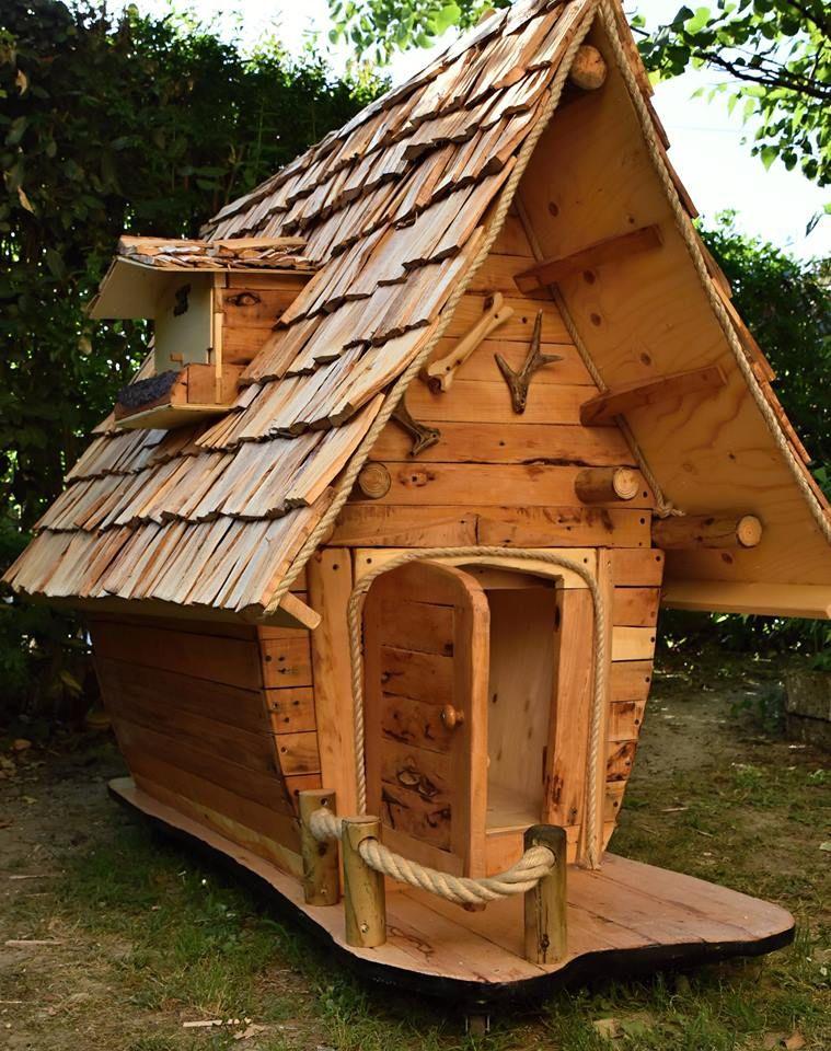 Diy doghouse from pallet shed design wood pallet