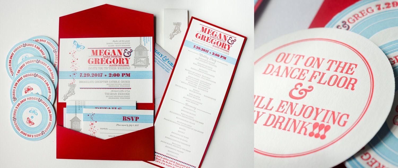 Milwaukee letterpress wedding invitations milwaukee letterpress