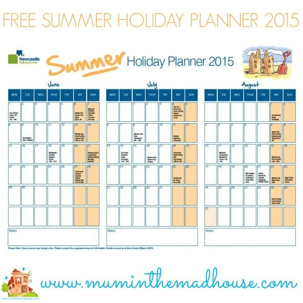 Free Summer Planner and Share your top family meal and win summer